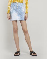 Paloma Wool Dallas Tie-dye Corduroy Mini-skirt - Blue