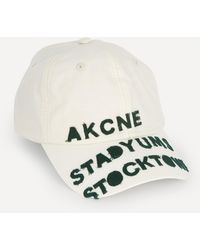Acne Studios Poplin Baseball Cap - Natural