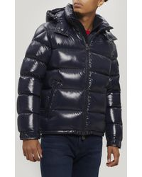 Moncler Maya Quilted Down-filled Puffer Jacket - Blue