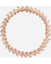 Shaun Leane Rose Gold Plated Vermeil Silver Serpents Trace Slim Bracelet - Metallic