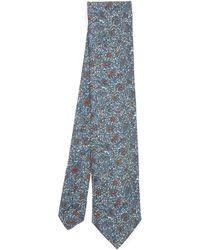 Liberty Toft Printed Silk Tie - Blue