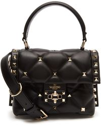 Valentino - Candystud Single Handle Quilted Leather Bag - Lyst