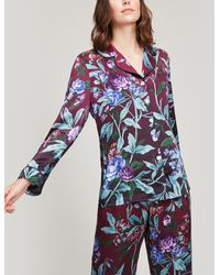 Liberty Desert Rose Silk Satin Pyjama Set - Pink