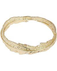 Alex Monroe - Gold Slim Plume Wreath Ring - Lyst