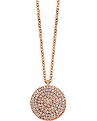 Astley Clarke - Rose Gold Icon Diamond Pendant Necklace - Lyst