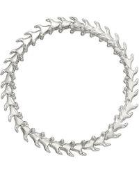 Shaun Leane Silver Serpents Trace Slim Bracelet - Metallic