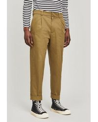 Acne Studios Pierre Structured Cropped Pants - Green