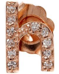 KC Designs   Rose Gold Diamond H Single Stud Earring   Lyst