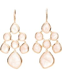 Monica Vinader Rose Gold Vermeil Siren Rose Quartz Chandelier Drop Earrings - Metallic