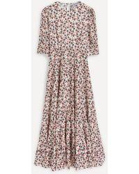 RIXO London Kristen Mid-sleeve Midi-dress - Multicolor