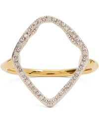 Monica Vinader Gold Vermeil Riva Hoop Cocktail Ring - Metallic