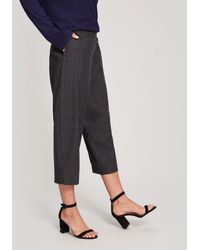 Oska Binke Checked Wool Trousers - Gray