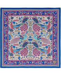 Liberty - Peacock Garden 70 X 70 Silk Twill Scarf - Lyst