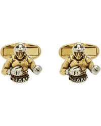 Paul Smith Boxer Cufflinks - Metallic
