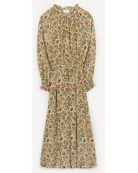 Officine Generale Norma Tapestry Elasticated Midi Dress - Multicolour