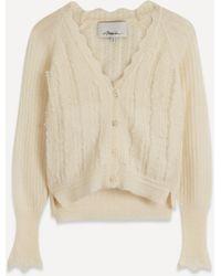 3.1 Phillip Lim Pointelle-knit Alpaca-blend Cardigan - Natural