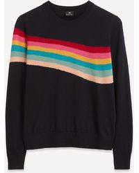 Paul Smith Artist Stripe Knit Jumper - Multicolour