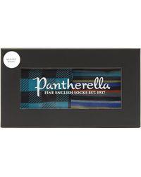 Pantherella Pack Of Two Merino Wool Socks Gift Box - Blue