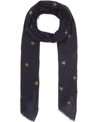 Lily and Lionel The Brightest Star Cashmere Scarf - Blue