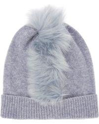 Charlotte Simone - Mo Mohawk Faux Fur Cashmere Beanie Hat - Lyst