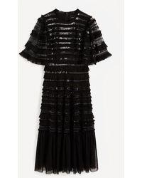 Needle & Thread Nancy Frill Ballerina Gown - Black