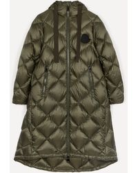 Moncler Duroc Long Quilted Down Jacket - Green