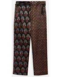 Bode Duo Block Print Silk Trousers - Multicolour