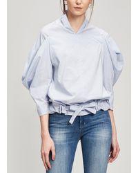 Nehera Bidi Cotton Boxy Blouse - Blue