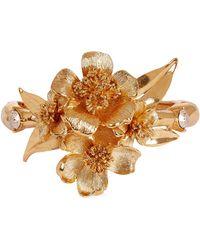 Oscar de la Renta - Gold-plated Delicate Flower Cuff Bracelet - Lyst