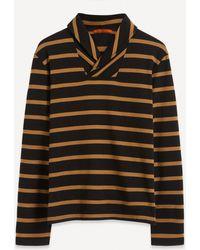 Barena Burchiello Striped Shawl-collar Sweatshirt - Multicolour