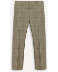 Dries Van Noten Prince Of Wales Check Straight-leg Trousers - Multicolour