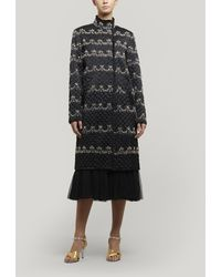 Needle & Thread Neve Embellished Quilted Coat - Black