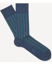 FALKE Pin Stripe Cotton Socks - Blue