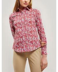 Liberty Wiltshire Tana Lawn' Cotton Camilla Shirt - Red