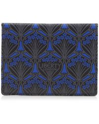 Liberty Travel Card Holder In Iphis Canvas - Blue