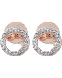 Monica Vinader - Gold-plated Riva Diamond Circle Studs - Lyst