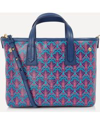 Liberty Mini Marlborough Iphis Canvas Cross-body Tote Bag - Blue