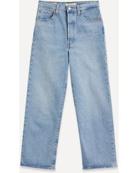 Levi's Ribcage Straight Ankle Jeans - Blue