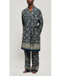 Liberty Chatsworth Tana Lawn Cotton Robe - Blue