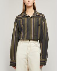 Marni Olive Stripe Oversized Shirt - Green