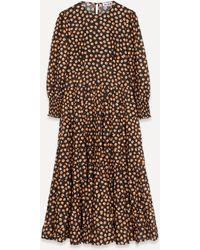 RIXO London - Pip Tulip Tier Maxi-dress - Lyst