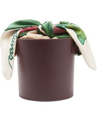Montunas Isla Leather Scarf Bucket Bag - Multicolour