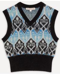 ALEXACHUNG Shrunken V-neck Knit Tank - Multicolour