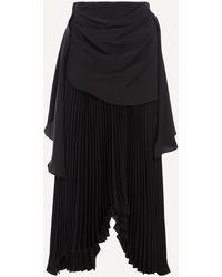 Awake Draped Pleated Skirt - Black