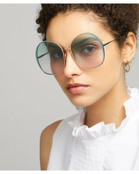 Chloé Irene Oversized Round Sunglasses - Blue