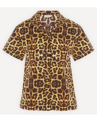 Dries Van Noten Copin Leopard Print Short-sleeved Shirt - Brown