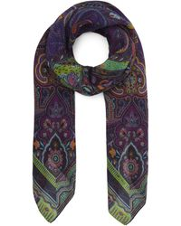 Etro Bombay Wool-blend Scarf - Purple