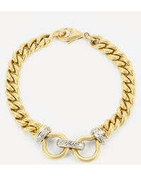 Kojis Gold Diamond Chain Bracelet - Metallic
