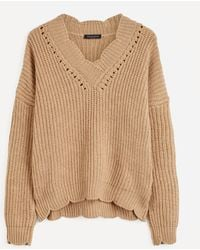 Piazza Sempione - Knitted V-neck Jumper - Lyst