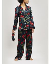 Liberty - Evelyn Silk Charmeuse Pyjama Set - Lyst